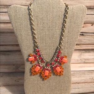 Stell & Dot Pink and Orange Statement Necklace